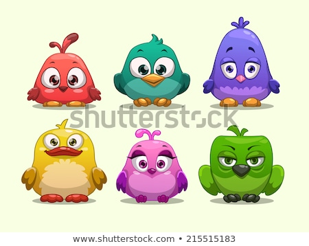 Stock photo: Cartoon Character Funny Bird