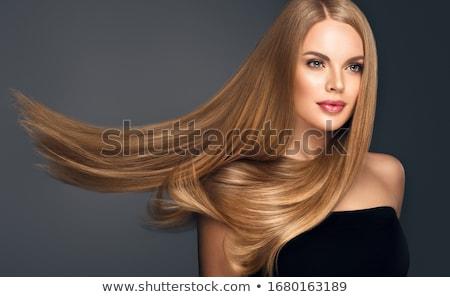 donna · sorridente · capelli · lunghi · felice · bella · donna · fresche - foto d'archivio © lubavnel