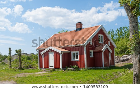 Red Cabin Stock photo © craig