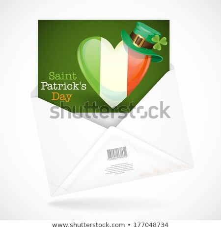 open envelope with clover stock photo © hermione