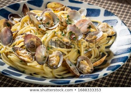 spaghetti with clams stock photo © antonio-s