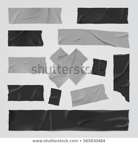 Zwarte plakband licht deels schone tape Stockfoto © gewoldi