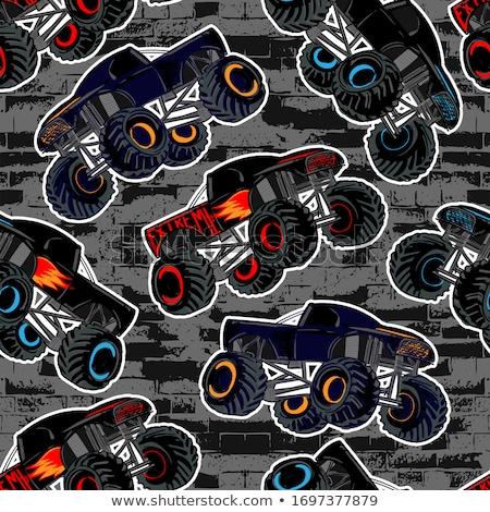 grande · deporte · sedán · línea · arte · negro - foto stock © pavelmidi