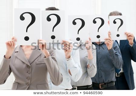 混乱 · ビジネスマン · ビッグ · 疑問符 · 小 · エレガントな - ストックフォト © ansonstock