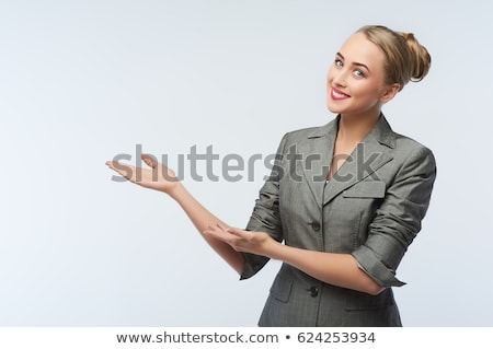 business woman with welcome gesture Stock photo © feedough