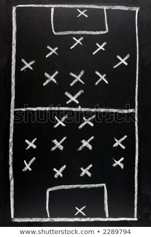 Voetbal formatie tactiek Blackboard witte doel Stockfoto © latent