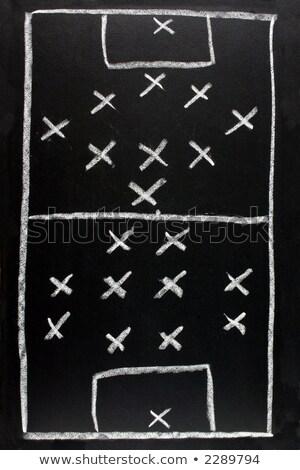 Futebol formação tática lousa branco meta Foto stock © latent