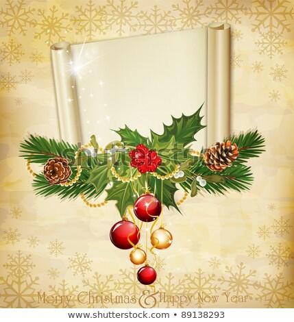 bağbozumu · tatil · davetiye · ağaç · arka · plan · kutu - stok fotoğraf © Alkestida