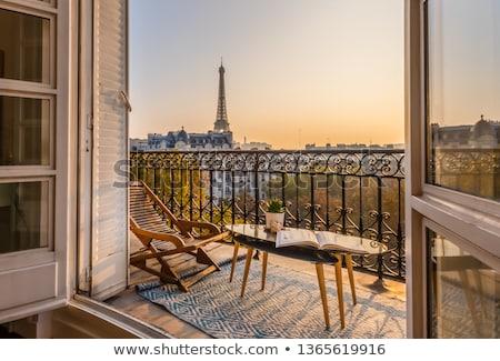 パリ 表示 エッフェル塔 見える モンマルトル 博物館 ストックフォト © ribeiroantonio