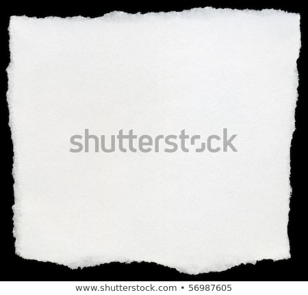 White torn square of paper isolated on a black background. Stock photo © latent