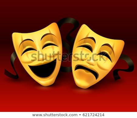 Maskers tragisch komische geïsoleerd zwarte Stockfoto © Onyshchenko
