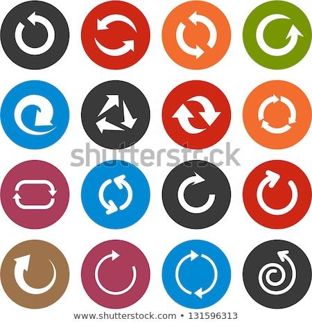 refresh icon blue Stock photo © almir1968