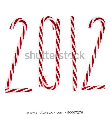 2012 natal pirulito isolado branco Foto stock © happydancing