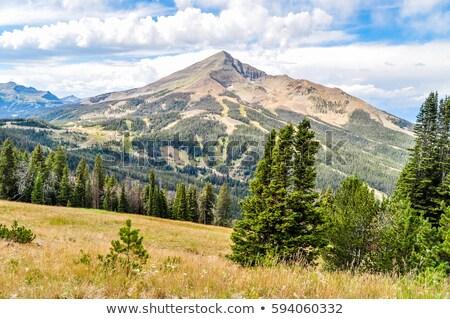 Panorama Montana grande cielo paese sole Foto d'archivio © fisfra