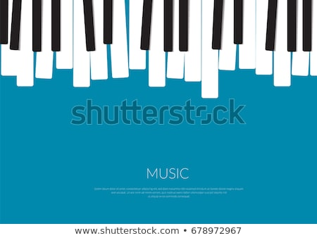 Zongora billentyűk hangszer 3D renderelt kép zene billentyűzet Stock fotó © yura_fx