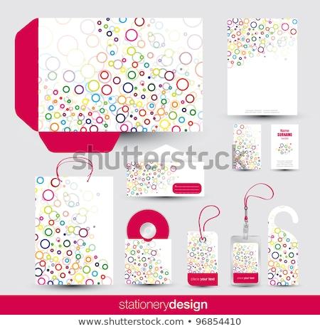 papeterie · design · vecteur · format - photo stock © place4design