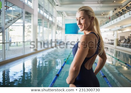 beautiful fair-haired woman in swimming pool Stock photo © photography33