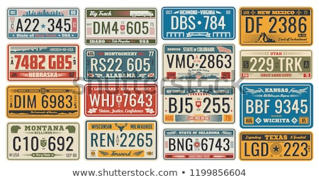 registration numbers, USA Stock photo © phbcz