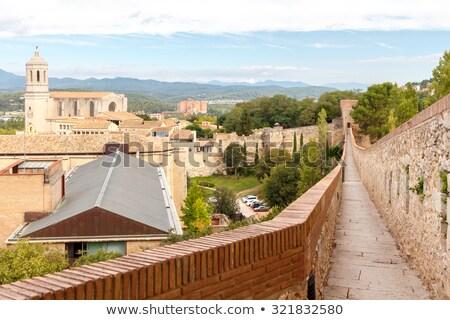Medieval city wall, Girona, Spain Stock photo © neirfy