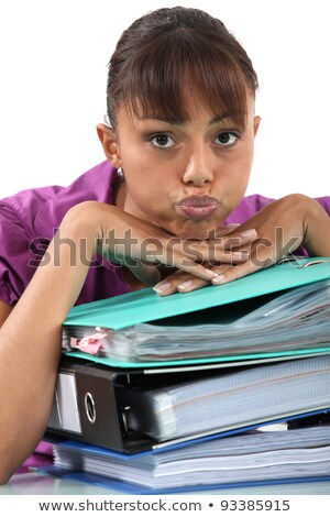 Office worker puckering her lips Stock photo © photography33