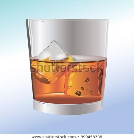Buz iki gözlük cam içmek Stok fotoğraf © bugstomper