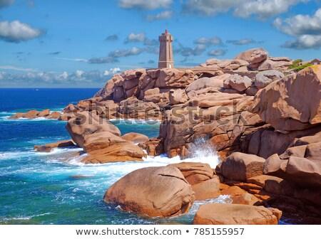 velho · farol · impressionante · costa · rosa · praia - foto stock © capturelight