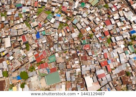 Манила трущобы район современных финансовых Сток-фото © joyr