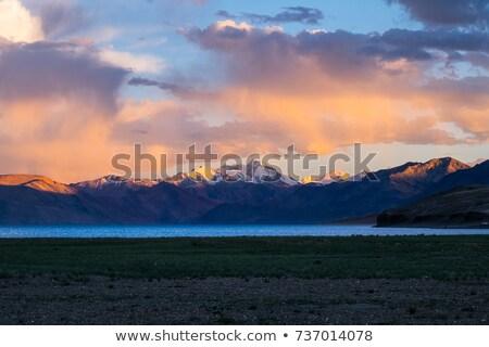paisagem · tibete · branco · lago · natureza · azul - foto stock © bbbar