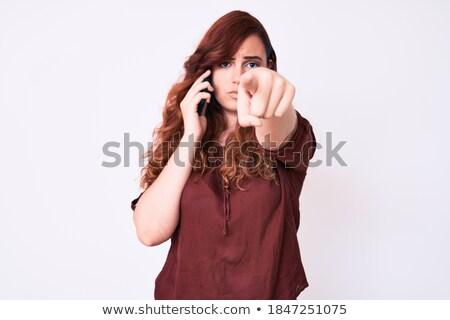 woman choosing you for a phone conversation Stock photo © feedough