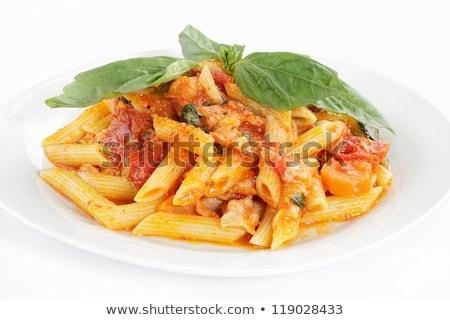 Сток-фото: чаши · полный · пасты · помидоров · базилик · здоровья