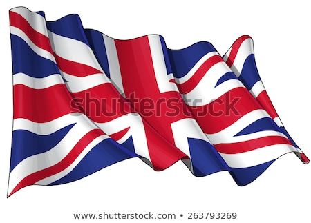 UK waving flag Stock photo © milsiart