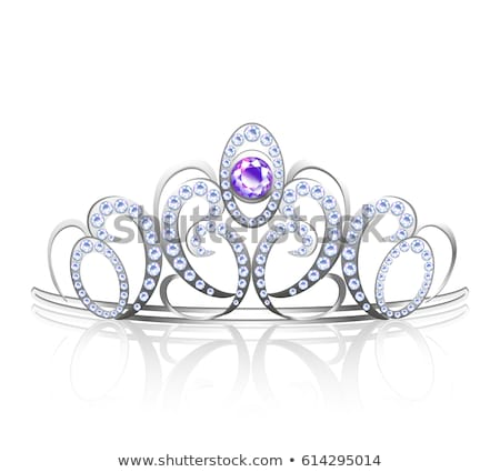 Silver diamond diadem, vector illustration stock photo © carodi