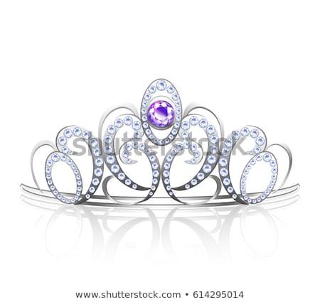 ezüst · gyémánt · vektor · hercegnő · divat · terv - stock fotó © carodi