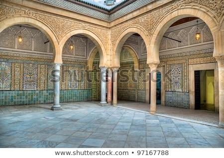 Сток-фото: мечети · Тунис · молитвы · белый · Ислам · мусульманских