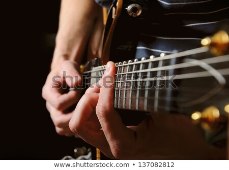 Close up shot of electric guitar stock photo © foto-fine-art