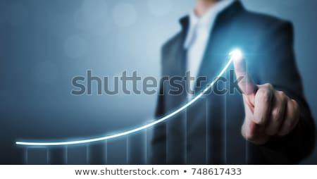 Croissant graphe d'affaires affaires Finance marché société Photo stock © 4designersart
