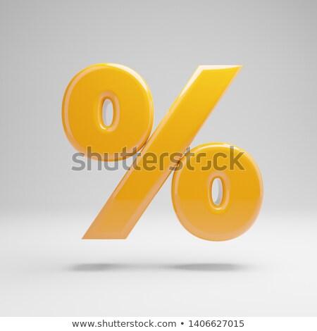 Symboles pour cent signe boîte bar Finance Photo stock © 4designersart