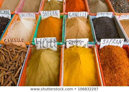 Colorful spices market in Gabes stock photo © Armisael