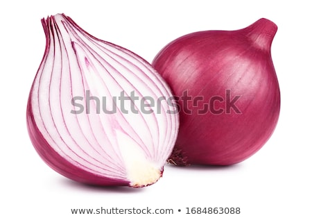 Cutting Red Onions Stock photo © ildi