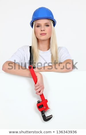 Beautiful female laborer in dungarees Stock photo © photography33
