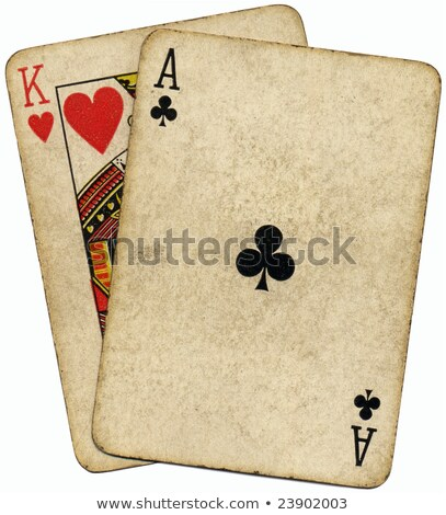 ace king known as the big slick poker hand stock photo © latent