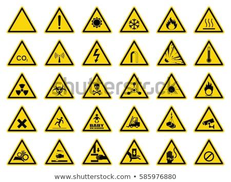 radiação · ícone · azul · vermelho · assinar · segurança - foto stock © tilo