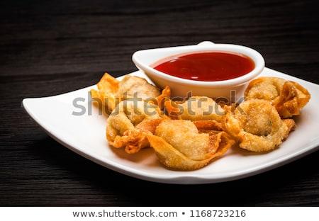 アジア · フライド · 皿 · 甘い · ソース · 竹 - ストックフォト © zkruger
