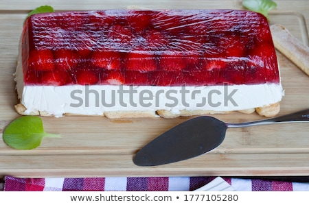summer berry jelly terrine stock photo © joannawnuk