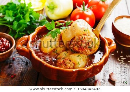 詰まった パプリカ ジューシー 赤 菜 ストックフォト © suliel