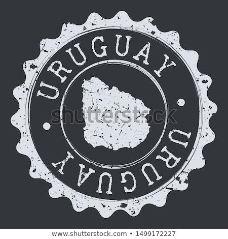 Posta Uruguay kép bélyeg térkép zászló Stock fotó © perysty