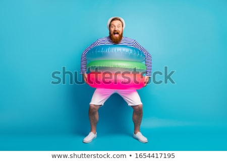 クレイジー 夏 面白い 若い男 着用 子供 ストックフォト © vlad_podkhlebnik