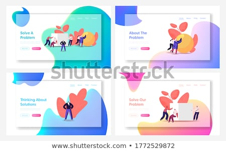 cubes with person signs  Stock photo © marinini