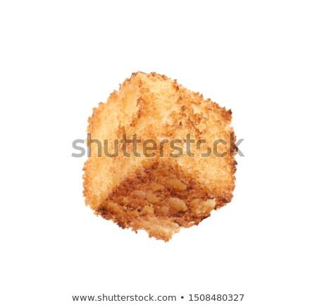 Blanco puro comer chip comida Foto stock © vankad