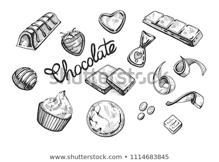 a variety of candy   vector illustration stock photo © meshaq2000